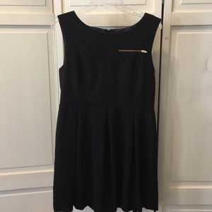 Like New H&M Little Black Dress Gold Zipper 8 10 P